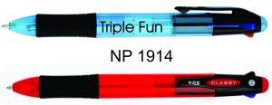 NP1914: Three Colour Ink Pen