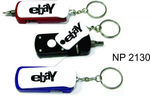 NP2130: LED Screwdriver Set Key Ring