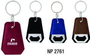 NP2761: Leatherette Opener Key Ring