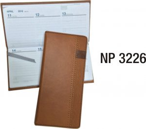 NP3226: Leather Weekly Planner