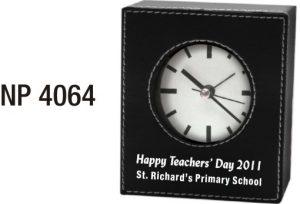 NP4064: Leatherette Clock