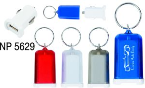 NP5629: USB Car Charger Key Ring