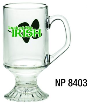 NP8403: Footed Glass Mug