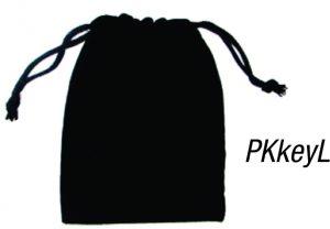 PKkeyL: Large Velvet Pouch for Key Rings