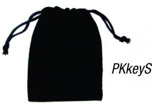 PKkeyS: Small Velvet Pouch for key rings