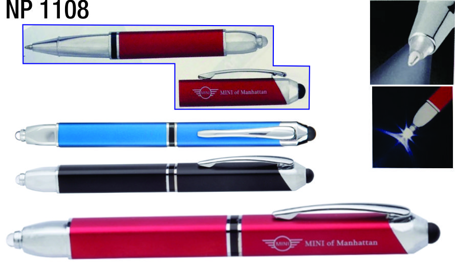 NP1108: Executive LED Stylus Pen