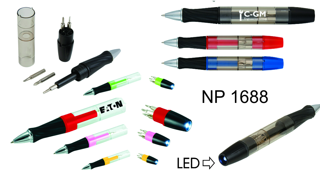 NP1688: Screwdriver Light Up Pen