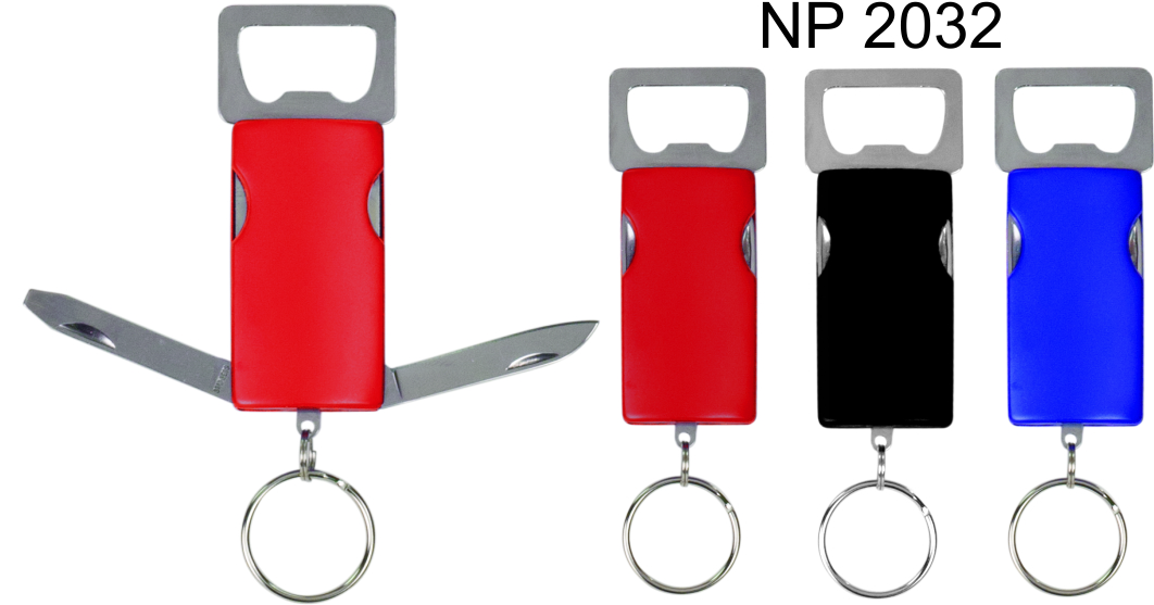 NP2032: Bottle Opener Knife Key Ring