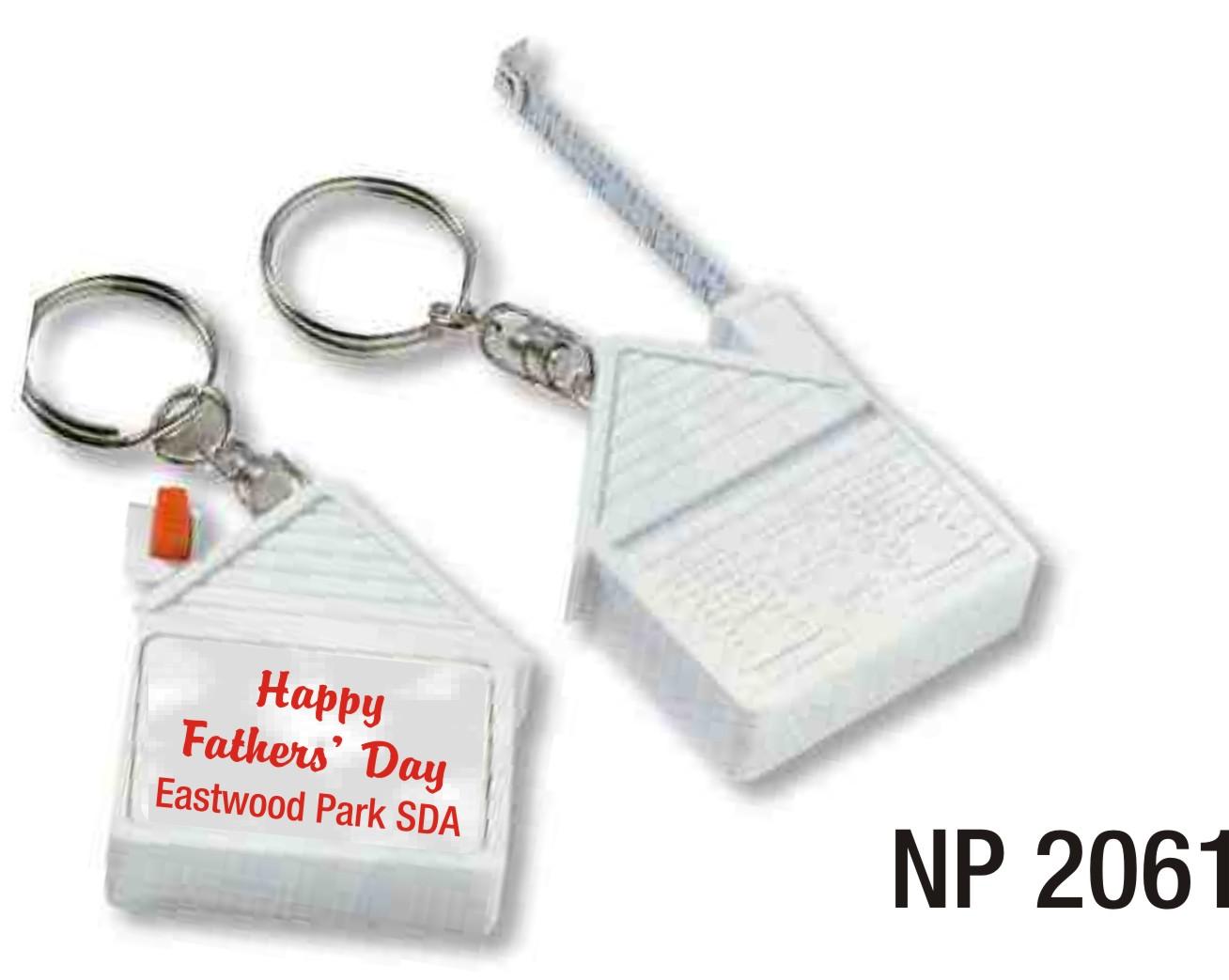 NP2061: House Shape Tape Measure Key Ring