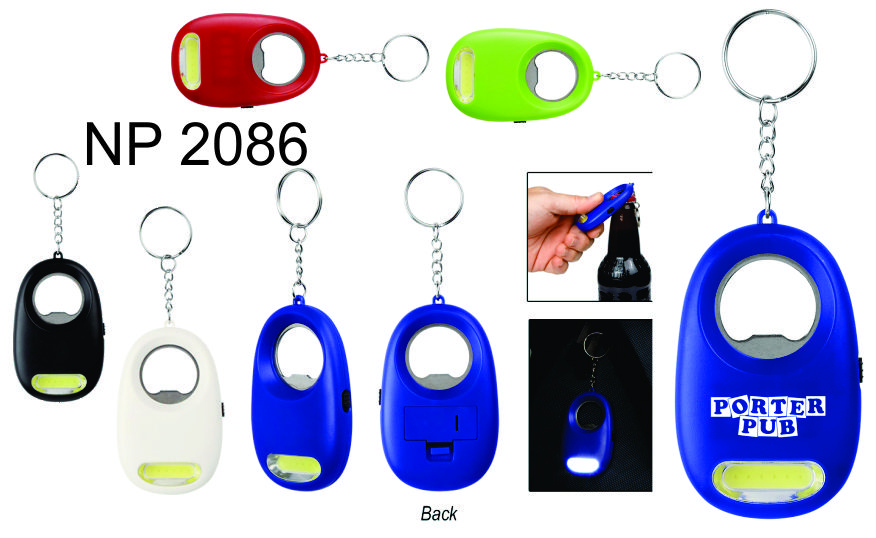 NP2086: COB Bottle Opener Key Ring