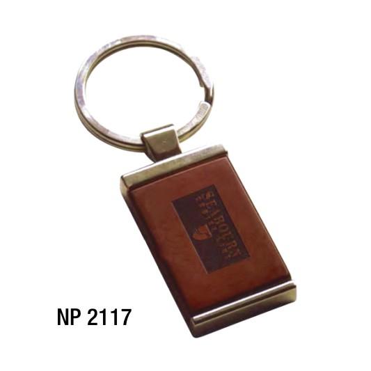 NP2117: Rosewood & Metal Key Ring (unprinted)