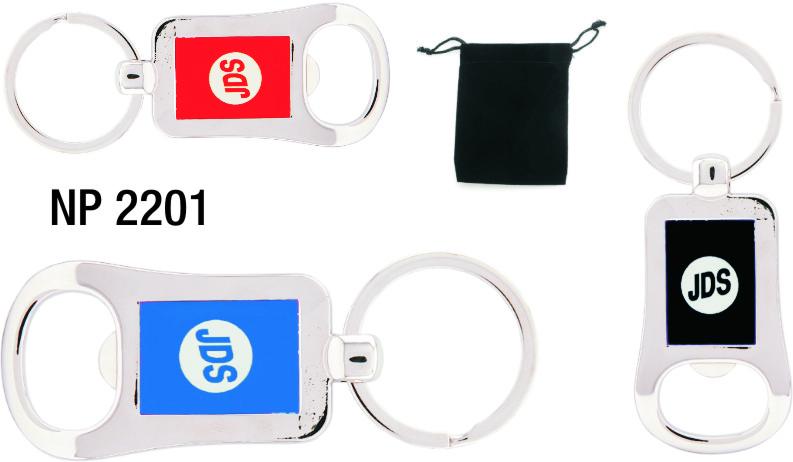 NP2201: Metal Bottle Opener Key Ring