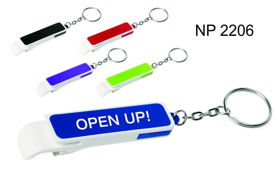 NP2206: Two Tone Bottle Opener Key Ring