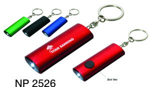 NP2526: Aluminum Flashlight Key Ring