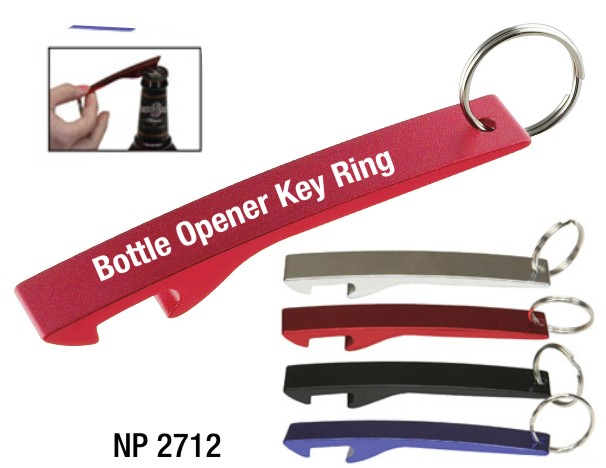 NP2712: Jumbo Aluminum Bottle Opener Key Ring