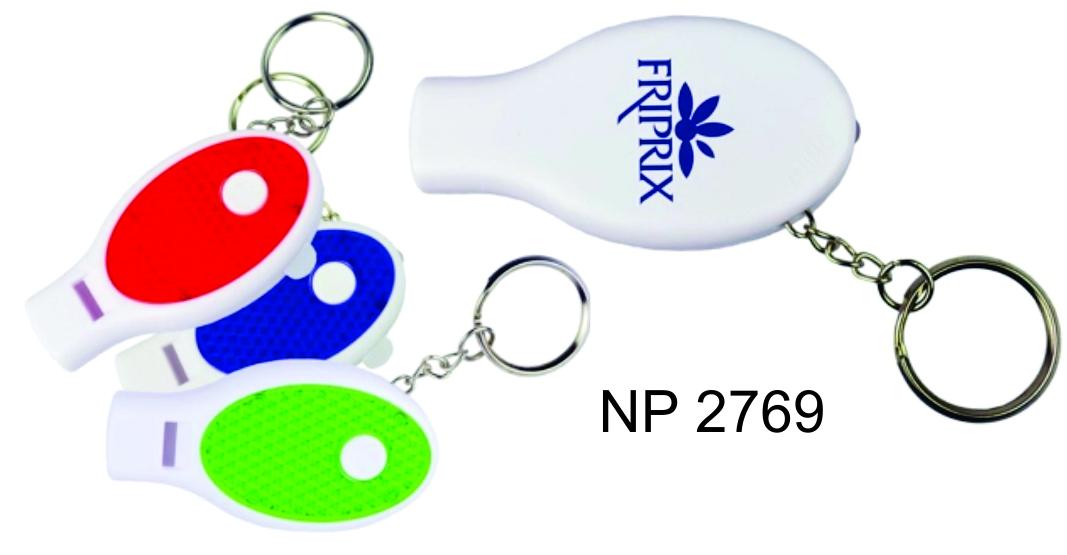 NP2769: Whistle LED Light Key Ring