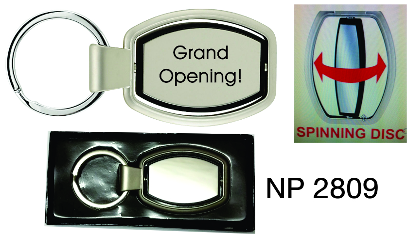 NP2809: Executive Spinner Key Ring