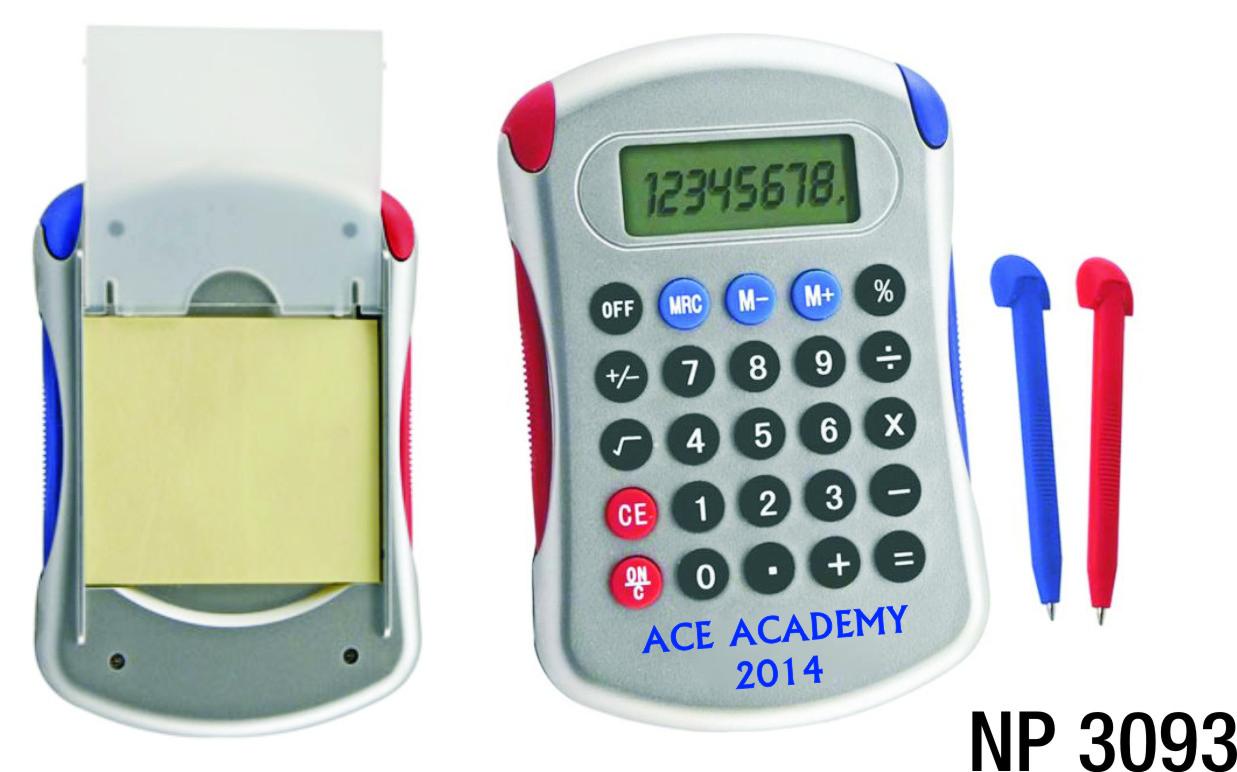 NP3093: Calculator, Pens & Paper