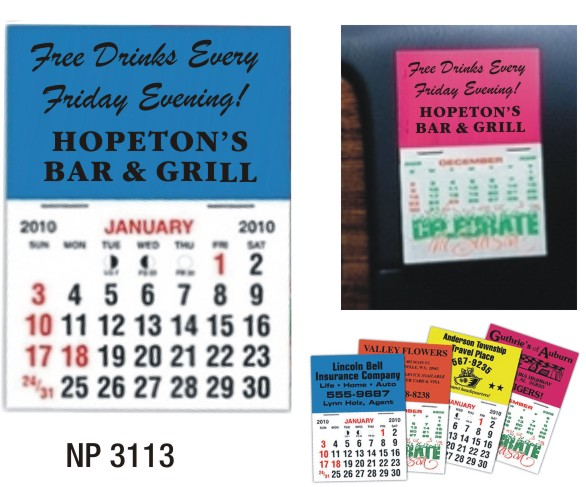 NP3113: Quick Stick Mini Calendar