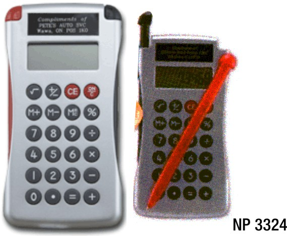NP3324: Calculator with two pens