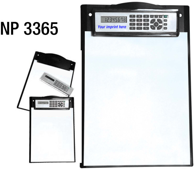 NP3365: Clipboard with Calculator / Ruler