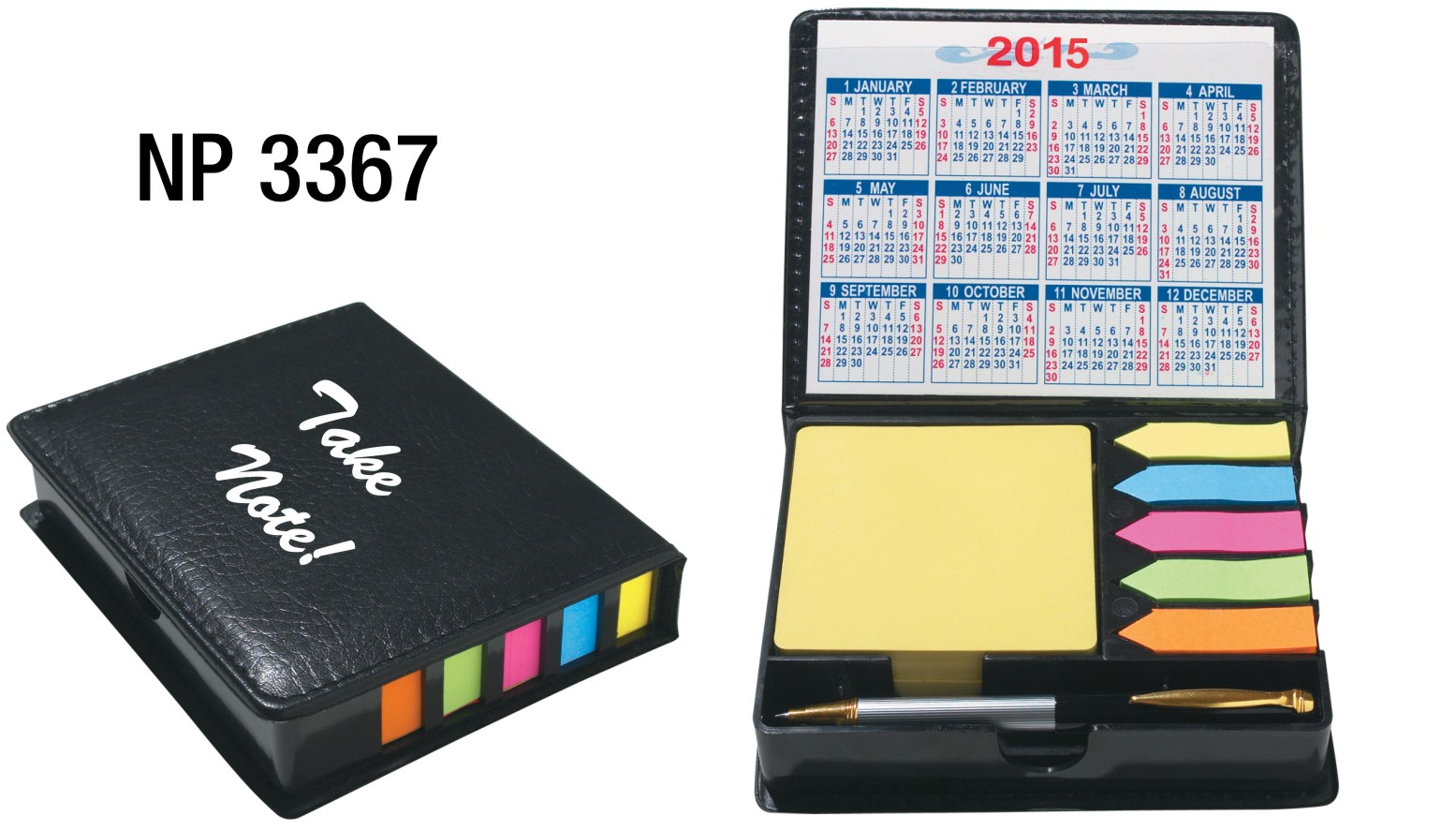NP3367: Sticky Note Holder with Pen