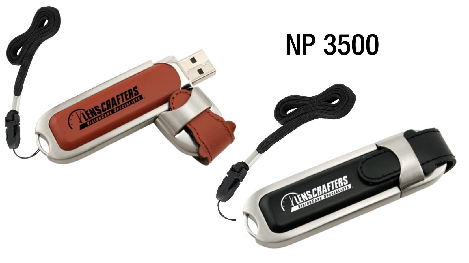 NP3500: Leather Flash Drive (8GB)