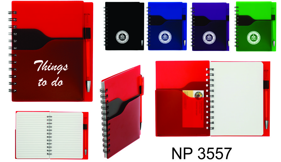 NP3557: Notebook with Pen & Pockets