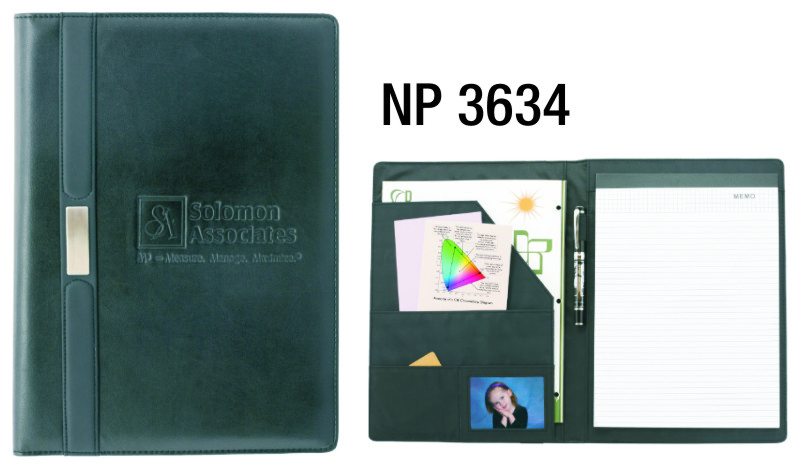 NP3634: Large Portfolio with silver accent