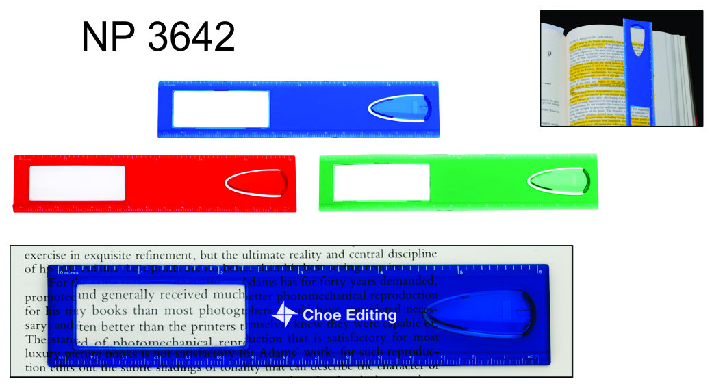 NP3642: 6in  Magnifier Ruler / Bookmark
