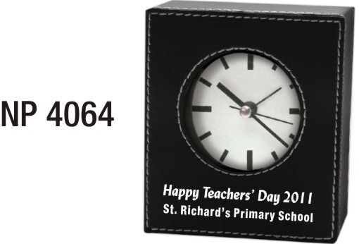 NP4064: Leatherette Clock