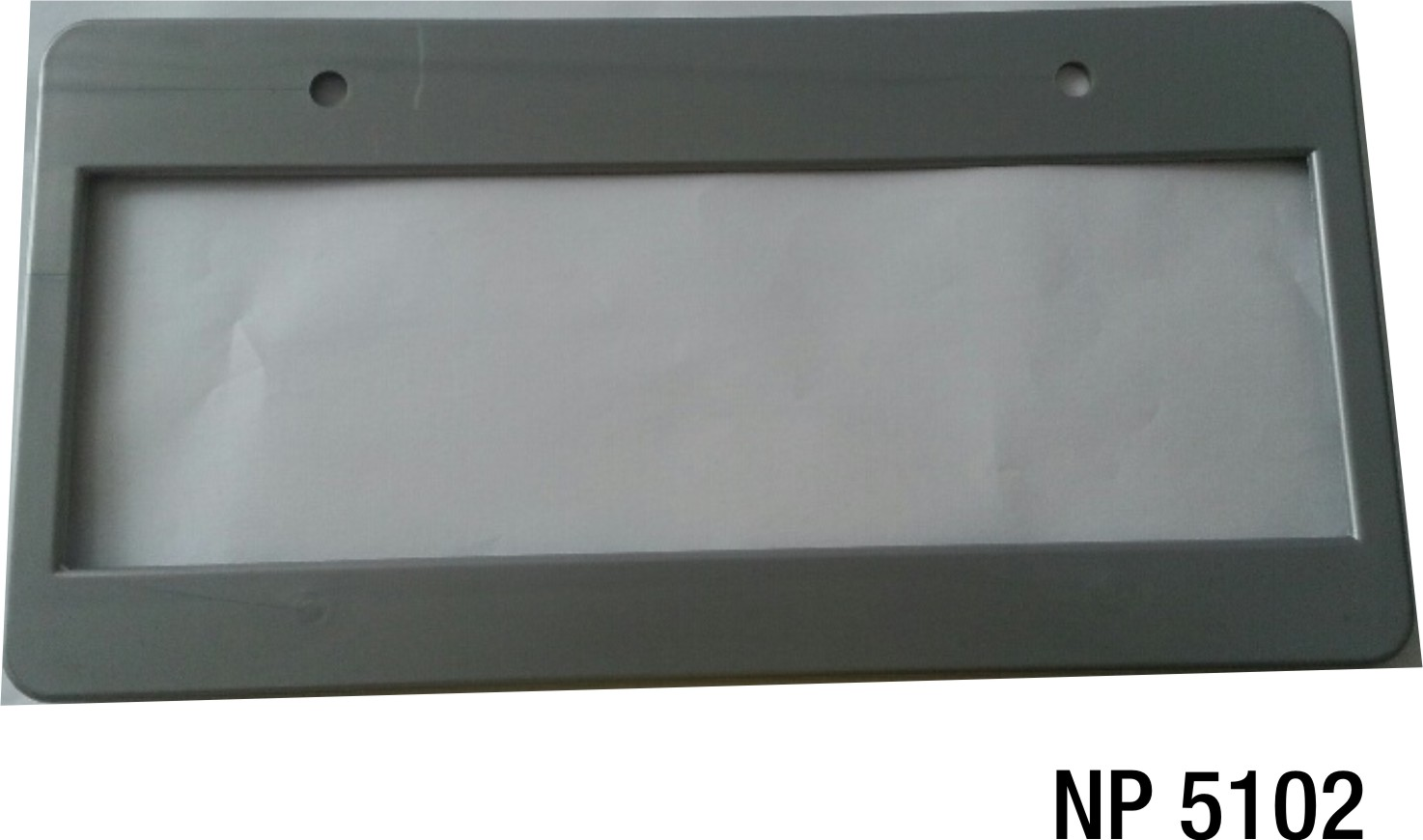 NP5102: Silver-Grey Licence Plate Frame