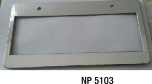 NP5103: Plasti-chrome Licence Frame