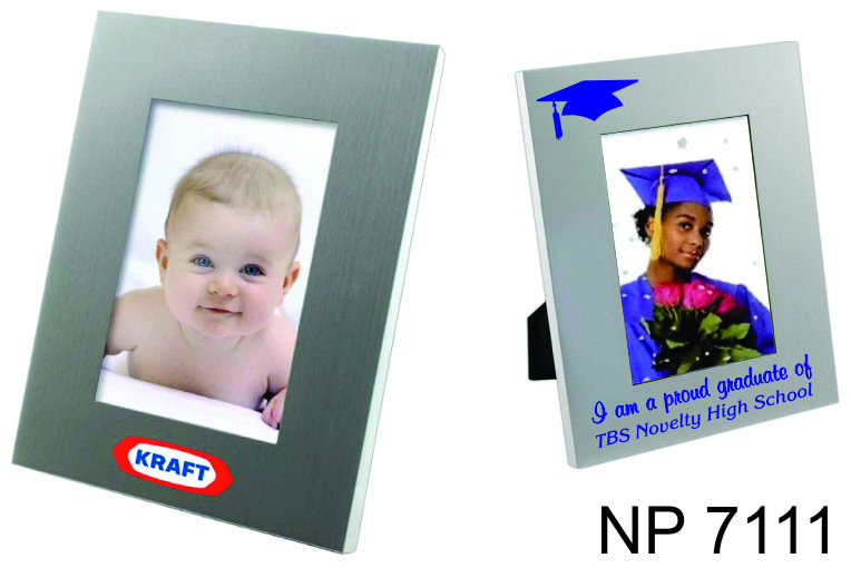 NP7111: Brushed Silver Metal Photo Frame
