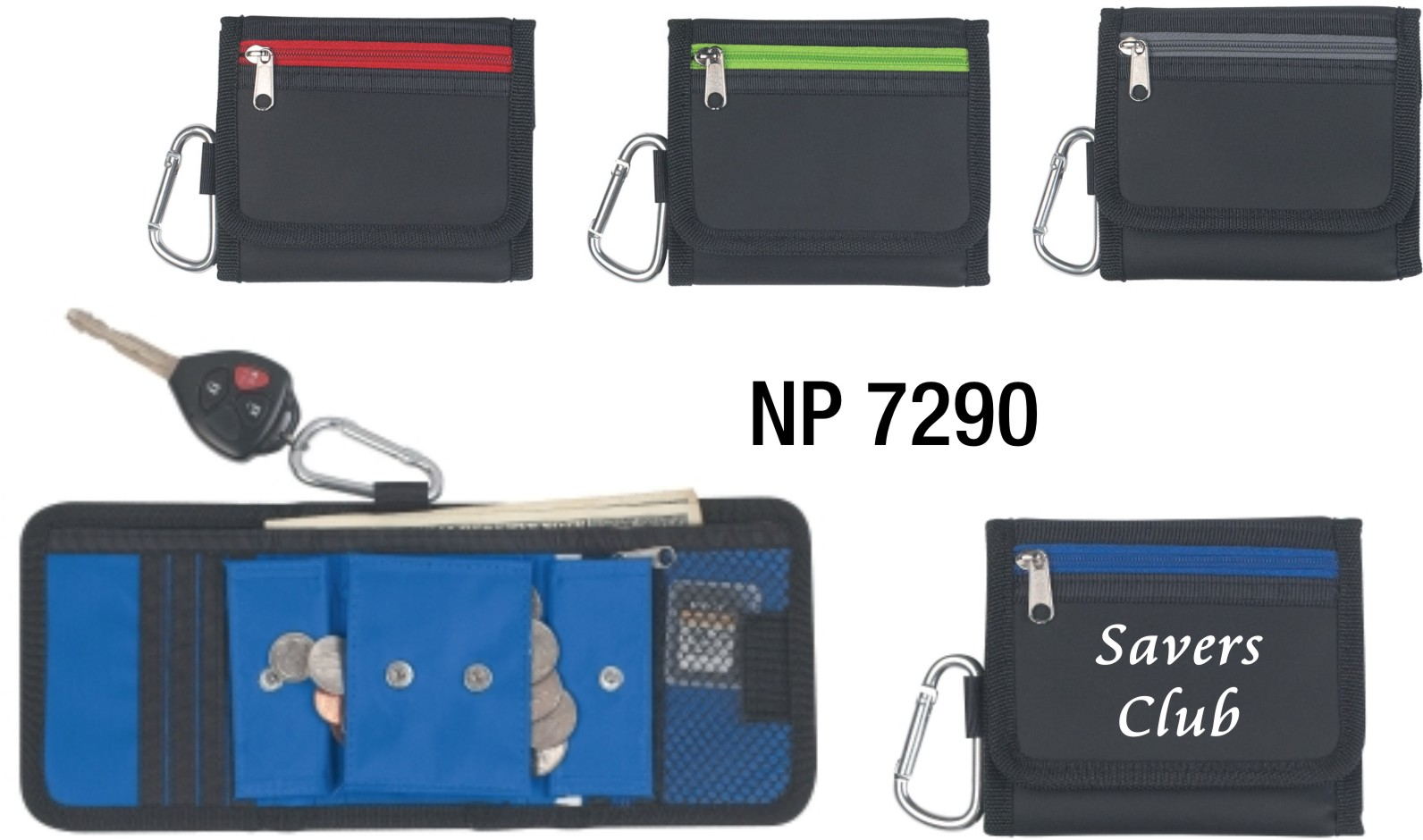 NP7290: Wallet with Carabiner