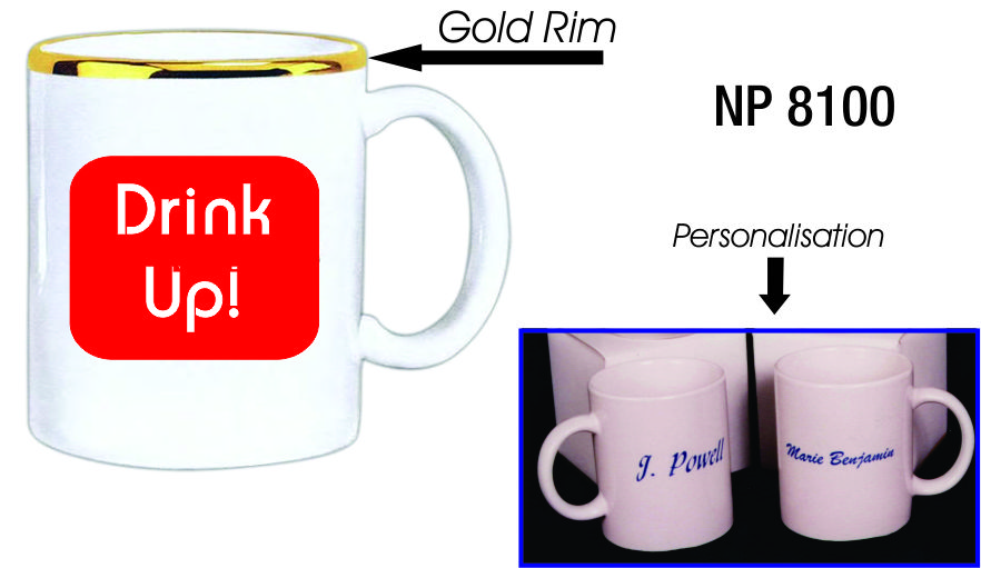 NP8100: White Coffee Mug