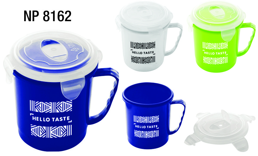 NP8162: Plastic Mug with Lid