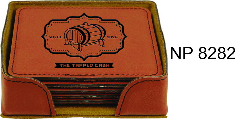 NP8282: Leatherette Coaster Set