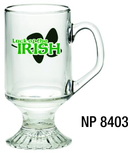 NP8403: Footed Glass Mug
