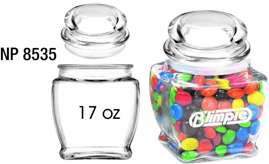 NP8535: 17oz Glass Canister