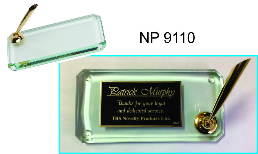 NP9110: Crystal Award Pen Holder