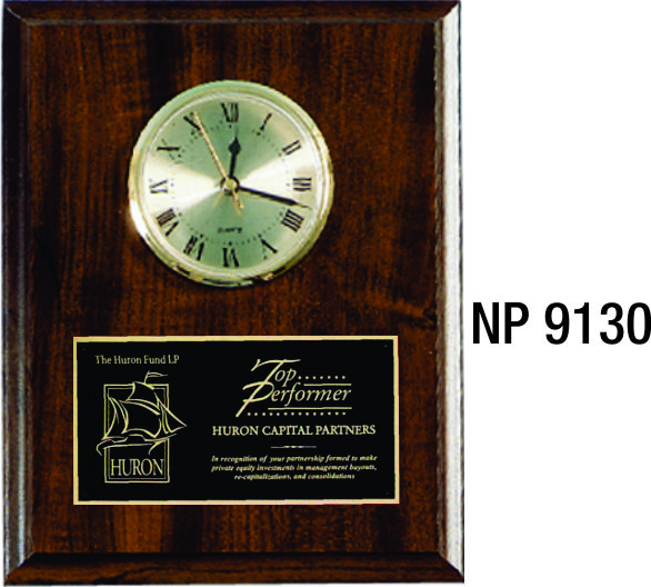 NP9130: Plaque with Clock
