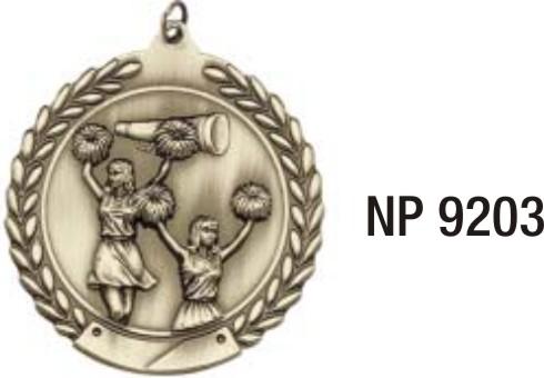 NP9203: Cheerleading Medal