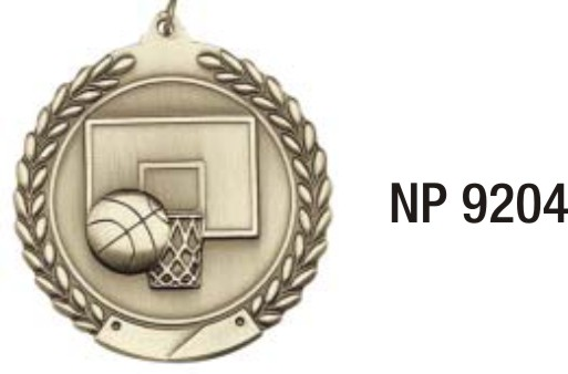 NP9204: Basketball Medal