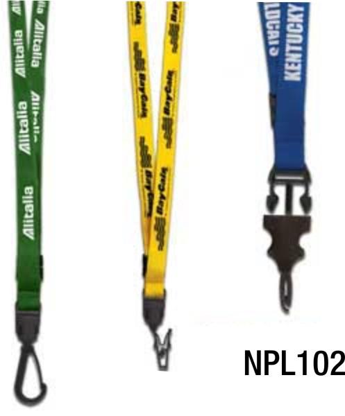 "NPL102: ½"" X 18"" Lanyard"