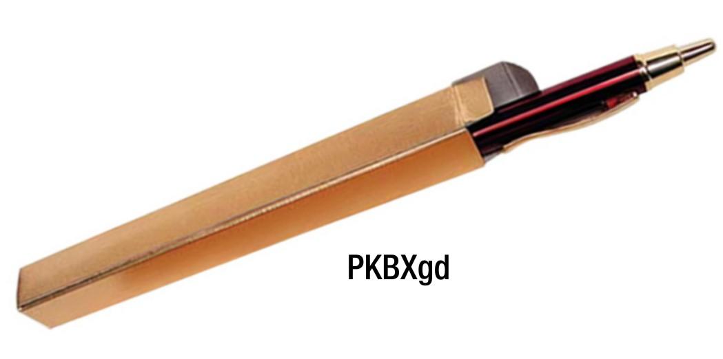 PKBXgd: Gold Foil Pen Box