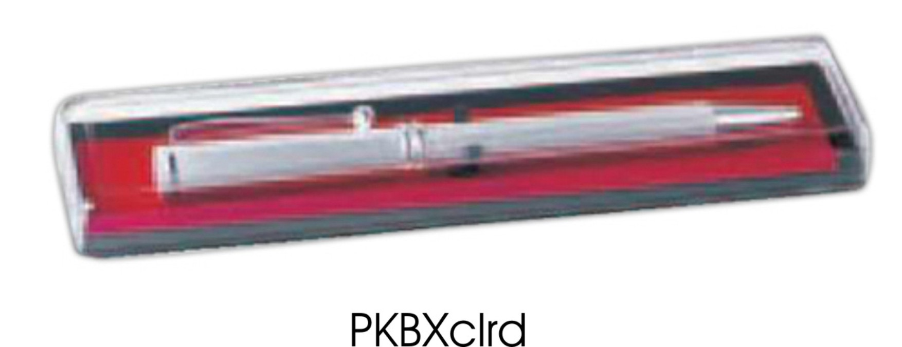 PKBXrd: Clear Top Pen Box (unprinted)