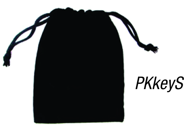 PKkeyS: Small Velvet Pouch for key rings