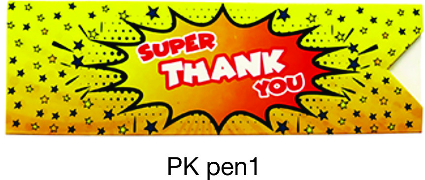 PKpen1: Thank You Paper Pen Sleeve