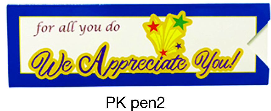 PKpen2: We Appreciate You Paper Pen Sleeve